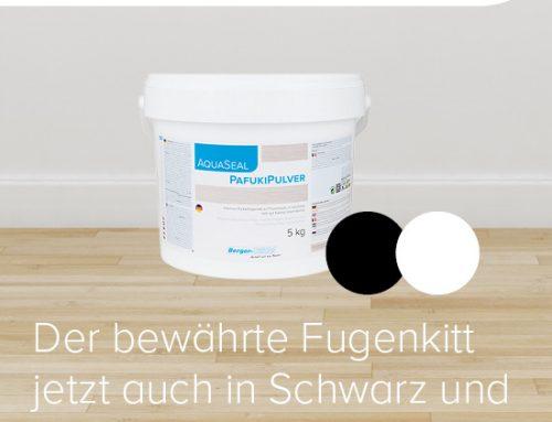 AquaSeal PafukiPulver nun auch in Schwarz und Weiß
