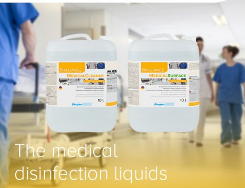 Medical disinfection liquids for hands and surfaces with high effectivity