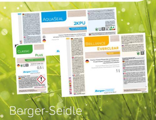 Etiketten im neuen Design – Berger-Seidle Gebinde im neuen Look