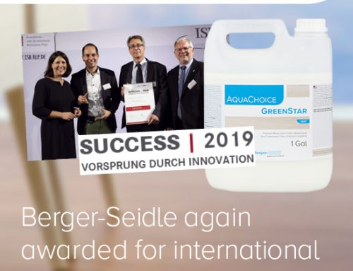 Berger-Seidle GmbH again awarded for the international top innovation AquaChoice GreenStar